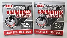 2X BELL SELF-SEAL Tube 12.5 x 1.75 - 2.25  Bicycle Inner Tube PLATINUM SERIES