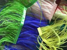 5 METRES SCRAPS OFFCUTS Ostrich feather Ribbon Trimming Fringe 10-12cm