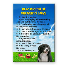 BORDER COLLIE Property Laws FRIDGE MAGNET No 1 DOG
