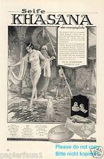 Seife Khasana Reklame von 1925 Orient Bad Hammam Harem Herrin Diener Erotik ad