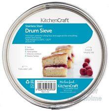 Kitchen Craft Antiadherente 20cm Acero Inoxidable Colador Tamiz De Tazón de tamiz de tambor