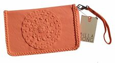"NEW + TAG BILLABONG ""PIXIE"" LADIES / GIRLS POP PINK CORAL CLUTCH WALLET / PURSE"