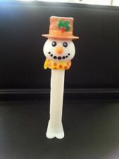 White Snowman with brown hat & scarf  Christmas PEZ Dispenser