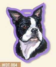 Boston Terrier Dog Luggage Tag for Purses, Golf Bags, Gym Bags, Back Packs