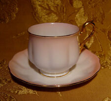 ROYAL ALBERT *RAINBOW* PINK TEA CUP & SAUCER GOLD GILT