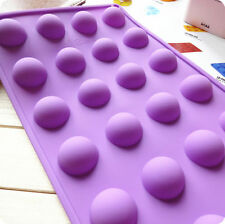 New 3D Cake Soap Mold 24-Round Ball Flexible Silicone Mould For Candy Chocolate