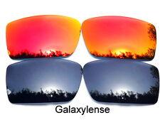 Galaxis Ersatzgläser Für Oakley Gascan schwarz & rot Farbe Polycarbonat 2 Paare
