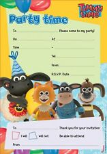 timmy time childrens birthday party invites kids invitations pack of 20