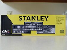 Stanley 266pc SAE Metric Mechanics Tool Set Ratchet Socket Extension Nut Driver