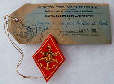 Insigne Tissu Patch Losange mod.1945 Rare Spécimen Type ECOLE POLYTECHNIQUE 1952