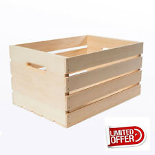 "Wooden Box 18"" Large Wood Crate Rustic Wood Vintage Storage Box Crates & Pallet"