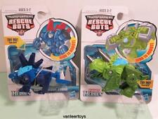 TRANSFORMERS Playskool Heroes Rescue Bots Lot CHASE & BOULDER The Rescue Dinobot