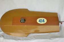 "VTG DUMAS 36"" WOOD RC BOAT OCTURA SHOVELNOSE SUPER TIGRE 60 WATER COOLED ENGINE"