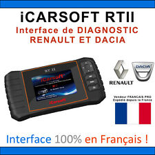 Valise Diagnostique RENAULT & DACIA - iCARSOFT RTII - CLIP - Compatible CAN OBD