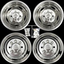 "Chevy 3500 17"" 8 Lug Dually Wheel Simulators Dual Rim Deep Dish Covers Hub Caps"