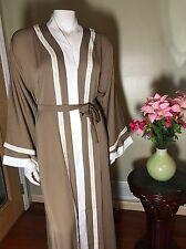 Fancy Khaleeji Abaya Arabic Button Up Half Open Jilbab Dubai Made Size XL 60