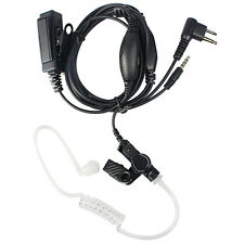 2 in1 Covert Air Tube Earpiece Mic Dual PTT for Motorola Radio and Mobile Phone