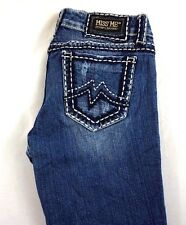 Miss Me Women's Sunny Boot Cut Denim Jeans w Big Stitch Pkt 28 x 30 [BM11107]