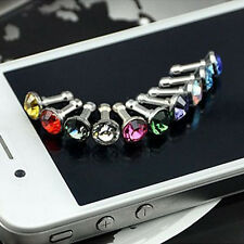 High Quality Crystal 3.5Mm Dust Plug Earphone Jack For Iphone 6Plus 5S 4S Random