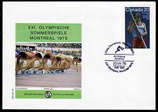 Kanada 597, Olympiade 1976 auf Sonderumschlag mit Sonderstempel
