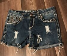 Junior's Size 9 Grace in LA Cutoff Bling Distressed Shorts