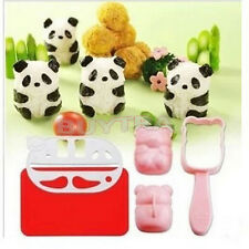 New BENTO accessories Rice Ball Mold Mould with Nori Punch Sushi PANDA Shape HUU