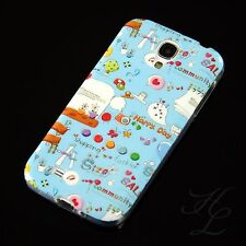 Samsung Galaxy S4 Silikon Case Schutz Hülle Design Cover Happy Day Bumper Etui