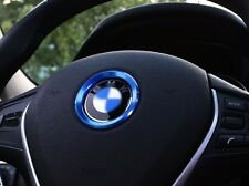 Blue Car steering wheel Emblem stickers For BMW X1 X3 X4 X5 X6 1 3 4 5 7 series