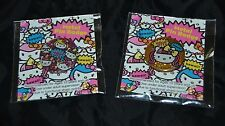 Lot of 2 KAWAII! Sanrio Hello Kitty Pins Badges Buttons NIP Sealed! 1 inch dia.