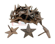 12 Cast Iron 1.5 in Mini Texas Star Nails Tacks Rustic Finish Western 1 in Nail