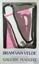 Bram Van VELDE (1985-1981) Affiche en lithographie pour la Galerie Maegth, 1980.
