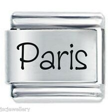 PARIS Name - 9mm Daisy Charm by JSC Fits Classic Size Italian Charms Bracelet