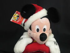 BIG NEW DISNEY CHRISTMAS MICKEY MOUSE PHOTO FRAME SANTA SUIT PLUSH STUFFED TOY