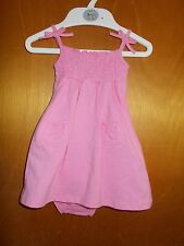 Maggie & Zoe Cotton Rich Sleeveless Dress & Pants Set 6-9mth 74cm Pink BNWT