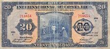 Costa Rica  20 Colones  23.4.1936  P 176 Serie C circulated  Banknote Not listed
