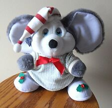 "Mouse Applause Night Before Christmas 1987"" Plush PJ's Slippers Hat Cap Korea"