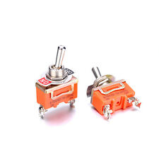 Pack of 2 Miniature Toggle Switch AC 250V 15A 2 Pin SPST On-Off Dual Position