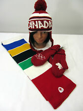 Hudson Bay Co. Canada Olympic Youth Trapper Hat, Adult S Mittens & Scarf