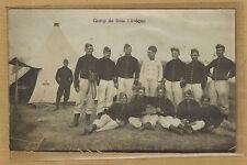 Cpa Carte Photo camp de Bois L'Evêque 37e Régiment Infanterie RI de Nancy m320