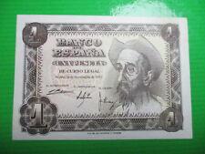 BILLETE DE 1 PESETAS  DE 1951 EL QUIJOTE    SIN CIRCULAR