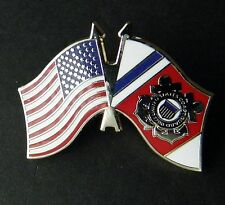 US COAST GUARD USCG FLAG USA COMBO LAPEL PIN BADGE 1.25 INCHES
