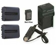 TWO 2 Batteries + Charger for Sony Alpha SLT-A65VK SLT-A65K SLT-A65Y SLT-A65VY