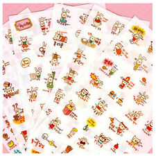 Cute Kawaii Cartoon Cat Rabbit Sticker DIY Diary Scrapbook Deco Decal Tag Crafts