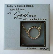 """u Today be blessed strong 14K gold plated BLISSFUL JOURNEY CHARM NECKLACE 18"""""""