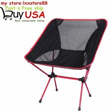 Folding Seat Stool Fishing Camping Hiking Gardening Beach Backpack Chair Red US