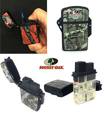 Mossy Oak Water Resistant Eagle Torch Flame Lighter Camoflauge Butane Refillable
