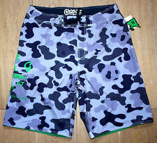 NEW LIFTED RESEARCH GROUP LRG Mens Blue Purple CAMOUFLAGE Board Shorts - SIZE 34
