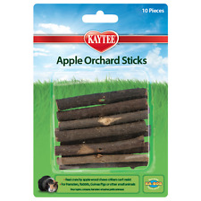 (10) Kaytee Small Animal All Natural Apple Orchard Wood Chew Sticks Toys, New