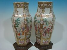 ANTIQUE Large Pair Chinese Famille Rose Vases. 18th Century. Lot 43