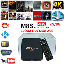 M8S Plus M8S-II TV Box S905 Android 5.1 2/8G Gigabit Lan DLNA Miracast KODI 16.0